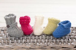 aaeeeefd436 Details about Easy Baby Booties Boots Shoes Gift Ugg Knitting Pattern Free  Penguin Pattern