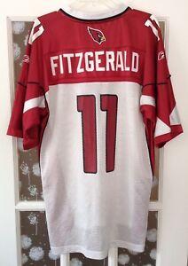 261337ae26f Image is loading Reebok-NFL-Equipment-Arizona-Cardinals-Larry-Fitzgerald-11-