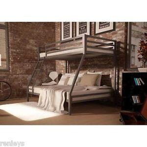 Twin Over Full Bunk Beds Kids Boys Girls Bedroom Furniture W Ladder