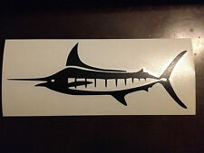 """Marlin Body Fish Fishing Decal Sticker 2.7"""" h x 7"""" w - Any Color"""