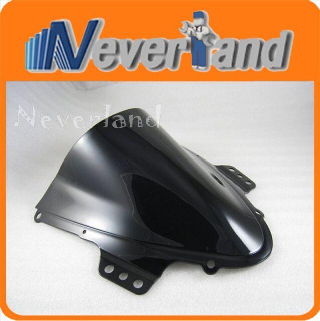 Double Bubble Windscreen Windshield for Suzuki GSXR 1000 K5 2005-2006 Black