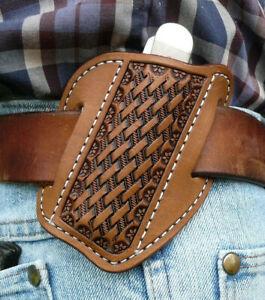 Medium-Leather-Cross-Draw-Pocket-Knife-Sheath-Ruff-s-Saddle-Shop-Brown