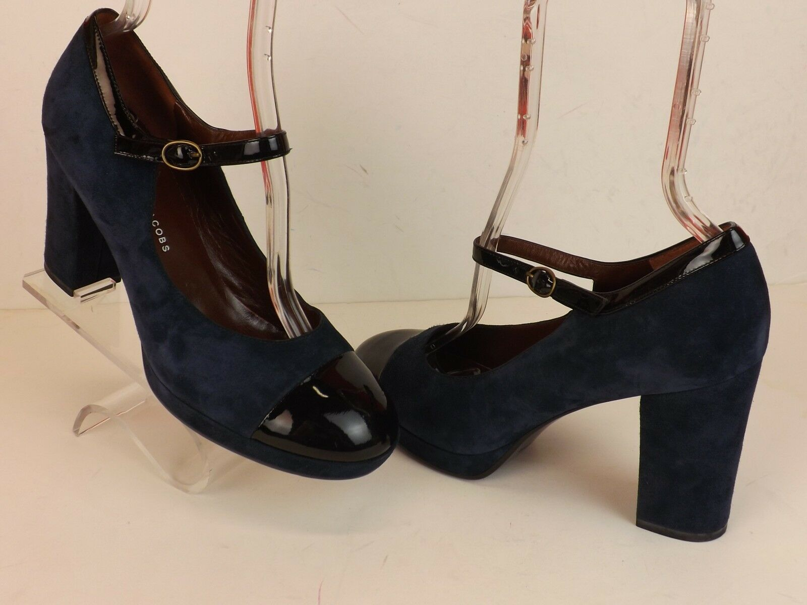 in vendita online NEW MARC BY MARC JACOBS DARK blu SUEDE ROUNDED TOE TOE TOE MARY JANE PLATFORM PUMPS 40  negozio online