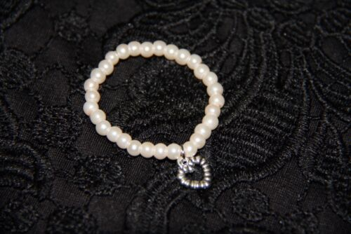 pearl baby bracelet - baby girl bracelets with little heart