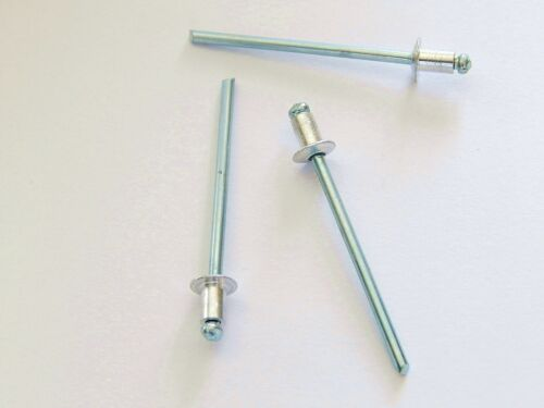 100 Blindnieten Popnieten Alu//Stahl 3,0 x 14,0 mm Nieten Flachkopf DIN 7337
