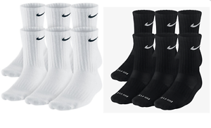 Nike-Dri-Fit-and-Performance-Cotton-Crew-Socks-1-3-OR-6-PAIRS-WHITE-OR-BLACK