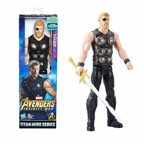 "Marvel Avengers Titan Hero Series Thor 12"" Action Figure Infinity Wars Power FX"