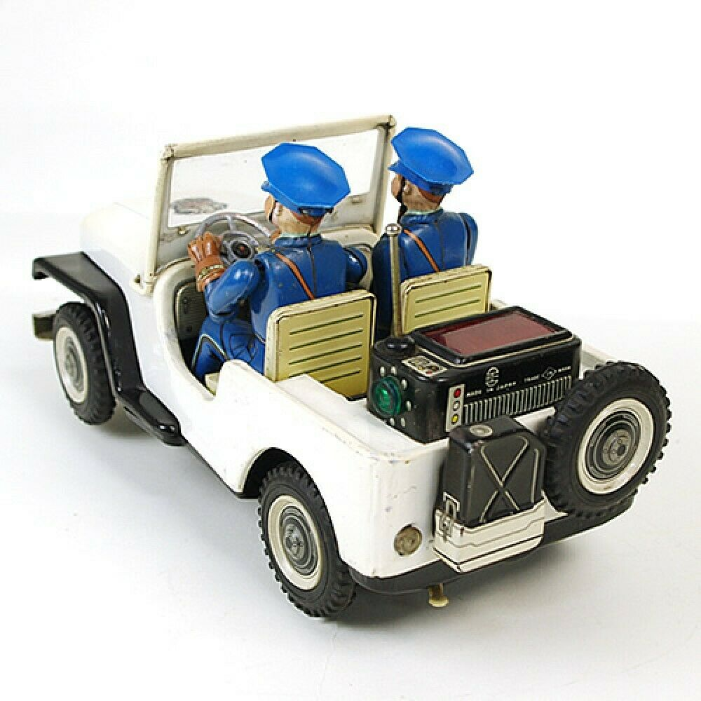 1950s Nomura Toy Tinplate POLICE PATROL Jeep Battrey operated with with with box JP F S e8dc6d