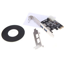 2-Port  USB 3.0 PCI-E 4-pin IDE Connector Adapter usb3.0 Add On Card Low Profile