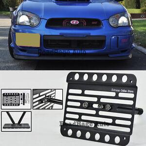 Dual Position Front License Plate Holder Relocator for 15-17 16 Subaru WRX/&STi