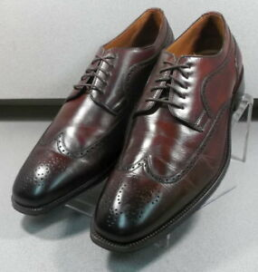 151752 PF50 Men's Shoes Size 11.5 M Brown Leather Lace Up Johnston & Murphy