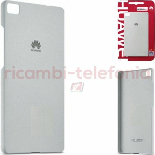 custodia Protective Case originale Huawei P8 Lite grigio ultraslim cover morbida
