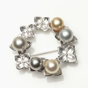 Pearl Antq 925 Sterling Silver Natural Pearl Pin Brooch Fine Pins & Brooches