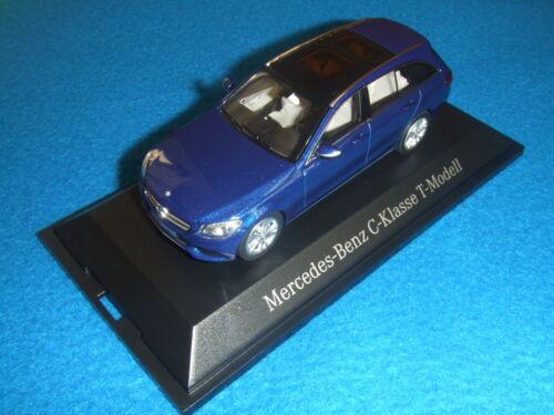 Mercedes Benz S 205 New C Klasse T Modell Brilliantblau Avantgarde 1:43 Neu OVP