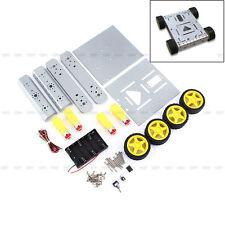 4WD Aluminum Alloy Robot Platform Four Drive Mobile Car For Arduino Motor DIY