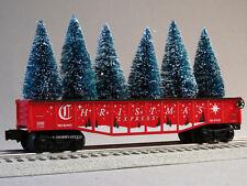 LIONEL CHRISTMAS EXPRESS GONDOLA W TREES O GAUGE train holiday car 6-82982-G NEW