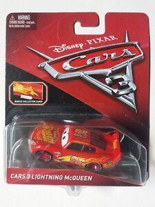 NOVITA-039-CARS-3-Disney-pixar-SAETTA-bonus-collector-card-2017-nuovo-1-55-mattel