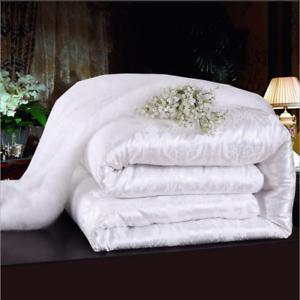 Warm-100-Silk-Filled-Comforter-Quilt-Duvet-Coverlet-Blanket-Doona-for-Summer