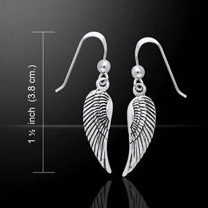 Angel Wings .925 Sterling Silver Earring by Peter Stone Jewelry