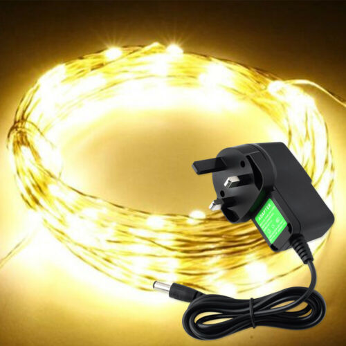 DC 12V Starry Fairy Lights With Micro LEDs 2//5//10m Silver Wire Multiple US//UK//EU