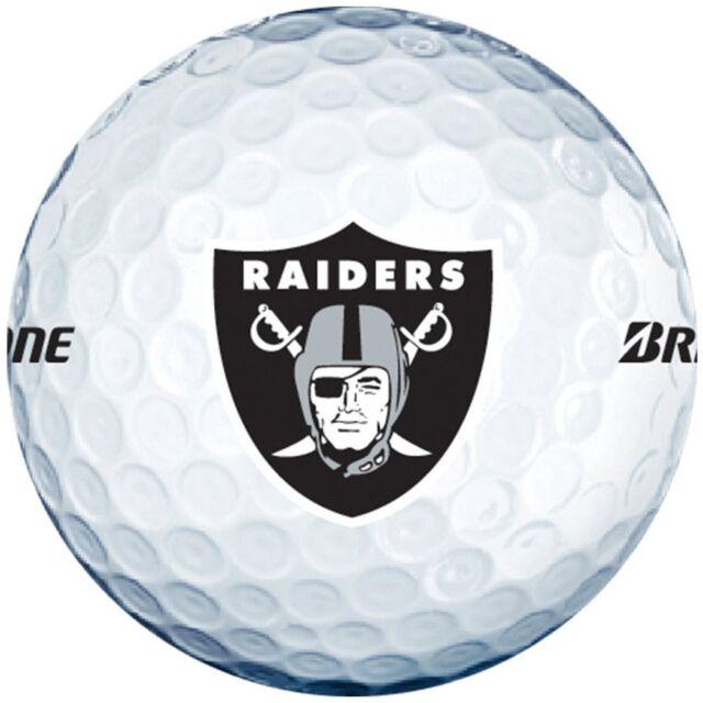 3 Dozen Bridgestone E6 Mint / AAAAA (Oakland Raiders NFL LOGO) Golf Balls