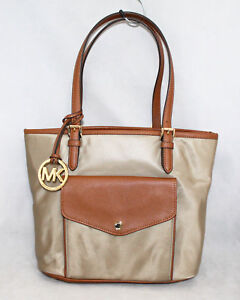 f1fbfa40a722 NWT MICHAEL KORS 35H5GJ2T2C Jet Set Dusk Nylon Medium Pocket Tote ...