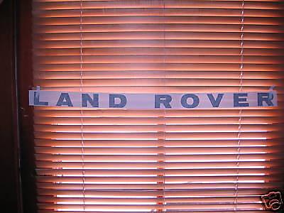 Land Rover 1 decal front bonnet SILVER  btr9897lav