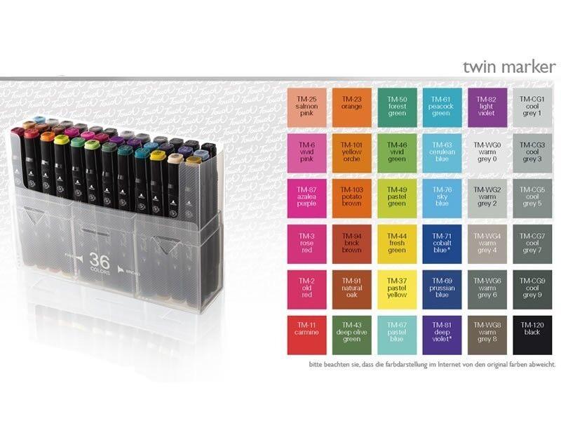 Touch Twin Marker 36er Set  Grund- und Grautöne | Züchtungen Eingeführt Werden Eine Nach Der Anderen