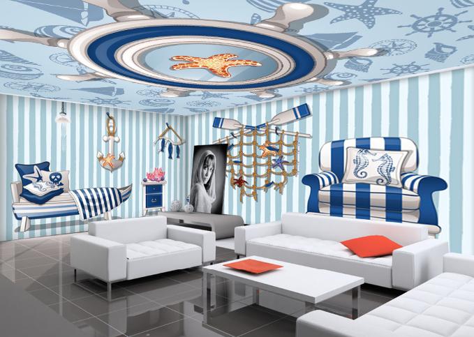 3D Gestreifte Ozean Stil 73 Tapete Wandgemälde Tapete Tapeten Bild Familie DE