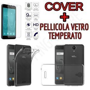 CUSTODIA-COVER-TPU-per-WIKO-HARRY-PELLICOLA-VETRO-TEMPERATO