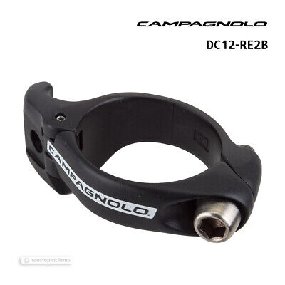 Black 32mm Campagnolo Part Derailleurs Buzz-On Clamp Adapter
