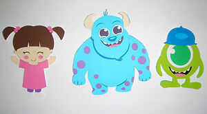 monsters inc sulley boo mike paper die cut paper doll scrapbook
