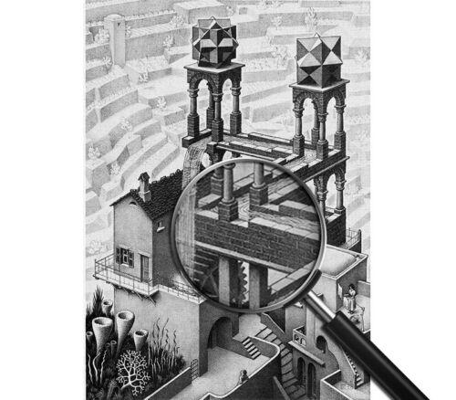 Pronto da appen Stampa fine art Maurits Cornelis Escher Waterfall Quadro