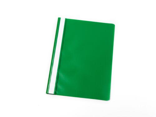 100 Schnellhefter DIN A5 grün PP Farbe