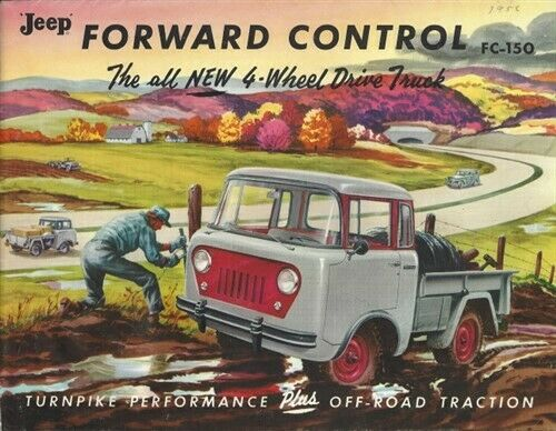 WILLYS JEEP Forward Control 4WD Vintage ORIGINAL 1957-1958 Truck Sales Brochure