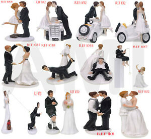 funny bride groom wedding cake toppers uk clearance wedding cake topper 14540
