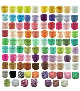 6-x-40m-Circulo-RUBI-Perle-8-Crochet-Cotton-Embroidery-Thread-message-me-Codes