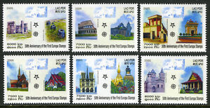Topical Stamps Stamps Laos 1668-73,mnh.europa Stamps 50th Ann Pallace,colosseum,church,cathedral,2005