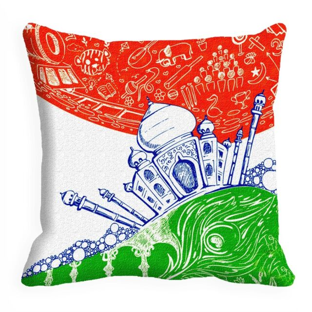 meSleep Fort Independence Day Cushion Cover (16x16)
