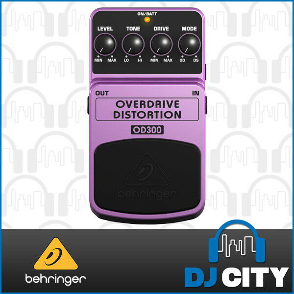 Behringer Guitar Effect FX Pedal Overdrive Distortion OD300