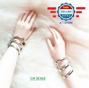 """1//6 Scale Metal Star Bracelet Bangle for 12/"""" Female Figure Doll Accessories"""