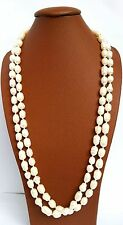Sautoir - Collier en Perle de Culture Naturelle Lithothérapie Bijoux en Nacre