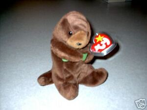 74f4cc52d73 Image is loading TY-Beanie-Baby-034-Seaweed-034-The-Otter-