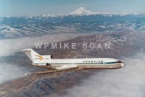8X12 air-to-air photo Frontier Airline B727 N7276F scenery. Great Boeing photo