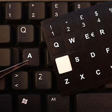 Adesivi TASTIERA ITALIANA fondo nero lettere bianco per Pc e Portatile QUALITA'!