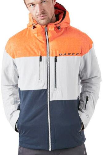 Dare2B Roamer Pro Mens Skiing Jacket Orange Grey Waterproof Ski Snow Sports Coat