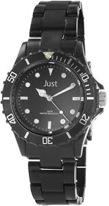 Just-Damenuhr-Schwarz-Analog-Kunststoff-Quarz-Armbanduhr-XJU10108001