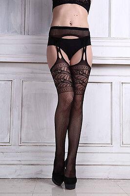 Sexy Women Lace Top Thigh-Highs Stockings & Garter Belt Thigh Stocking Pantyhose
