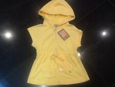 """NWT Juicy Couture New & Gen. Ladies Size Small Yellow Towelling Hoody & """"J"""" Pull"""