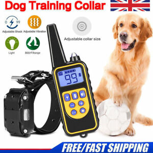 800m-Waterproof-Pet-Dog-Training-Collar-Rechargeable-Electric-Shock-LCD-Display